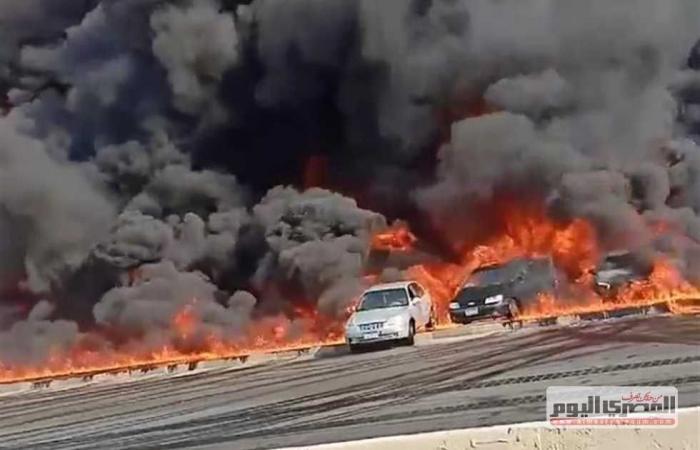 #المصري اليوم -#حوادث - من أسوان.. رئيس الوزراء يتابع تطورات حريق خط بترول «الإسماعيلية الصحراوي» موجز نيوز