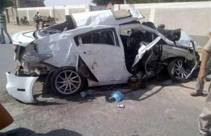 #المصري اليوم -#حوادث - إصابة 8 في تصادم سيارة بعمود خرساني بطريق الإسماعيلية الصحراوي موجز نيوز