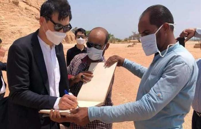 المصري اليوم - اخبار مصر- سفير كوريا الجنوبية يزور معبد أبو سمبل (صور) موجز نيوز