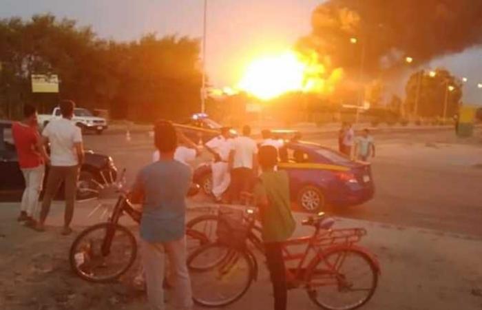 #المصري اليوم -#حوادث - حريق هائل بالمنطقة الصناعية في مدينة السادات (صور) موجز نيوز