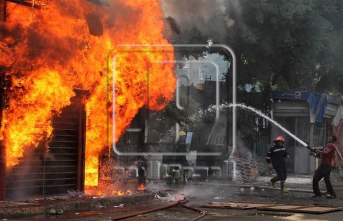 #المصري اليوم -#حوادث - النيران تلتهم 5 محلات ملابس في السلام وإصابة 4 عمال.. والنيابة تحقق موجز نيوز