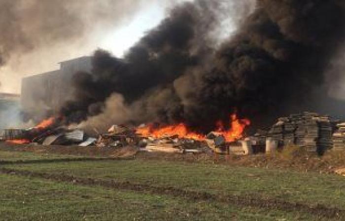 #اليوم السابع - #حوادث - حريق هائل بمخازن مصنع شركة أدوات الصحية بالعاشر من رمضان