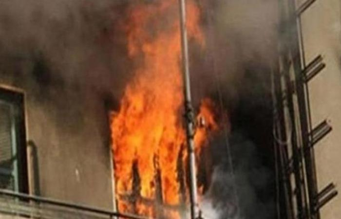 الوفد -الحوادث - نشوب حريق هائل داخل شقتين بالقليوبية موجز نيوز