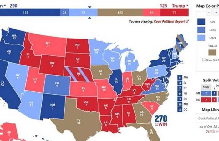 #المصري اليوم -#اخبار العالم - كيف سيحسم الرقم 270 انتخابات الرئاسة الأمريكية 2020؟.. تحليل بمركز المستقبل للأبحاث موجز نيوز