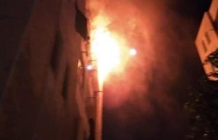 #اليوم السابع - #حوادث - شاهد حريق فى برج مصر للسياحة بالعباسية