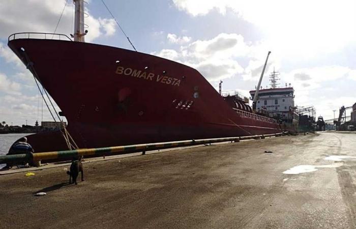 المصري اليوم - اخبار مصر- شحن 3200 طن صودا كاويه وتداول 34 سفينة بموانئ بورسعيد موجز نيوز