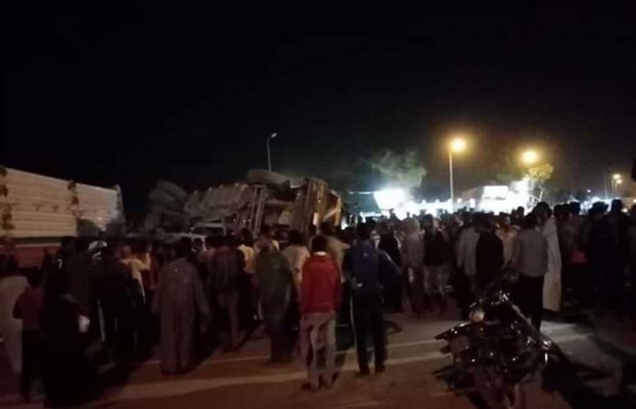 #المصري اليوم -#حوادث - إصابة شخصين في انقلاب مقطورة بأسوان موجز نيوز