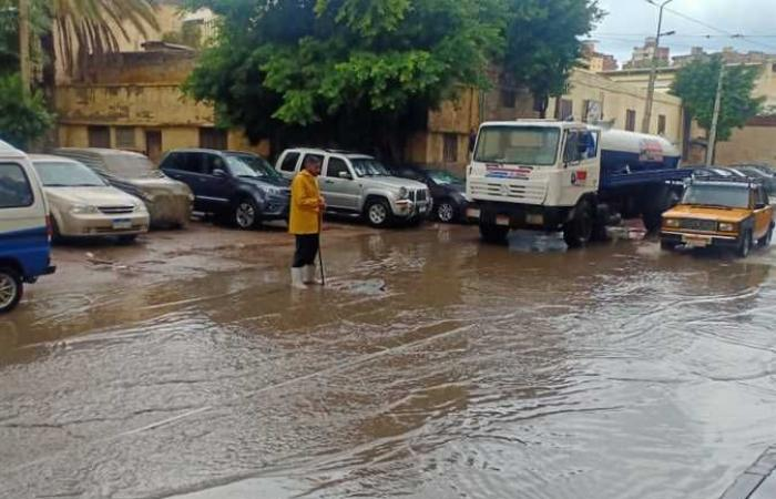 المصري اليوم - اخبار مصر- أمطار «المكنسة» تغرق شوارع غرب الإسكندرية (صور) موجز نيوز