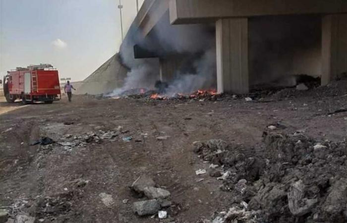 #المصري اليوم -#حوادث - إخماد حريق محدود نشب بكوبري خشبي للمشاة في المنيا موجز نيوز