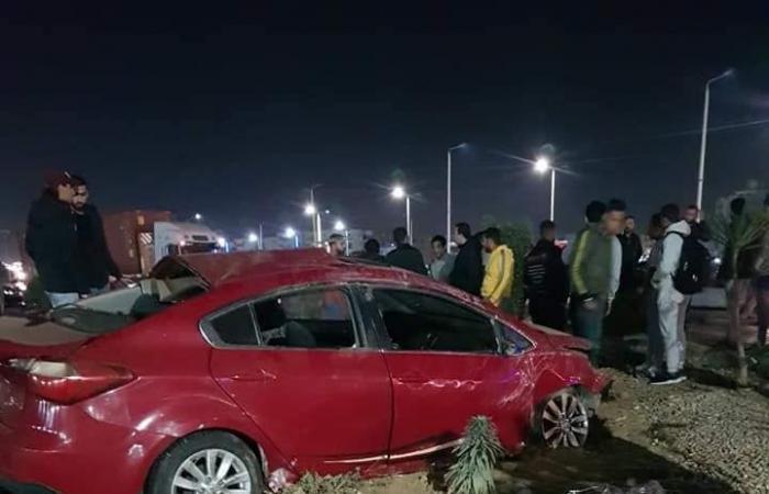 #اليوم السابع - #حوادث - مصرع 4 أشخاص وإصابة 11 فى حادث تصادم بطريق السلام بالسويس.. بالأسماء والصور