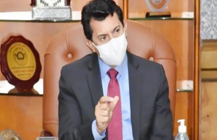 الوفد رياضة - وزير الرياضة يطمئن على بعثة المقاولون العرب بجيبوتي موجز نيوز