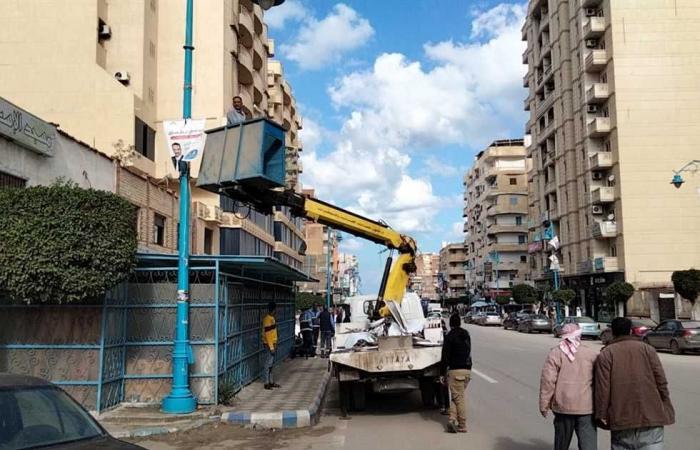 المصري اليوم - اخبار مصر- مرسى مطروح تزيل اللافتات الدعائية بعد انتهاء انتخابات مجلس النواب موجز نيوز