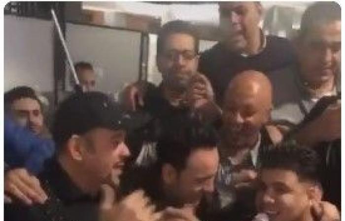 """#اليوم السابع - #فن - عمر كمال يغنى """"انزل يا جميل"""" فى عيد ميلاد حميد الشاعرى.. فيديو وصور"""