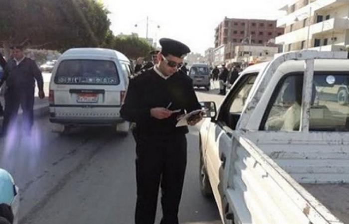 الوفد -الحوادث - المرور يضبط 159 مخالفة السير بدون تراخيص خلال يوم موجز نيوز