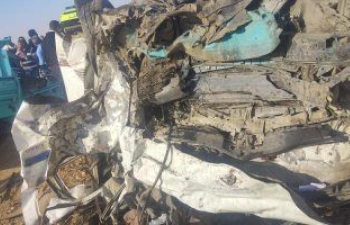 #اليوم السابع - #حوادث - إصابة 8 أشخاص فى حادث انقلاب سيارة بطريق القاهرة- الفيوم الصحراوى