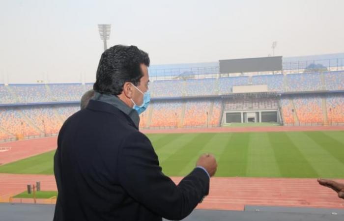 وزير الرياضة: استاد القاهرة سيكون جاهزاً لاستضافة المباريات 15 يناير
