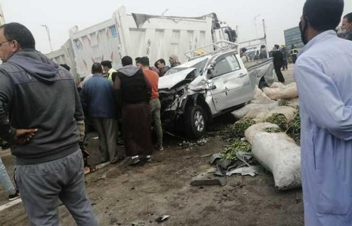 المصري اليوم - اخبار مصر- مصرع شخصين فى تصادم 7 سيارات بطريق «الإسكندرية الساحلي» (صور) موجز نيوز