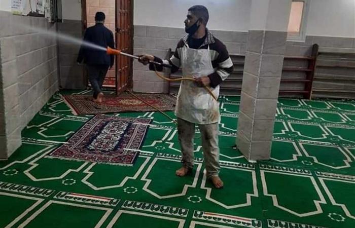 المصري اليوم - اخبار مصر- تطهير وتعقيم المساجد بشمال سيناء استعدادا لصلاة الجمعة موجز نيوز