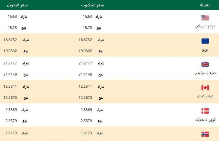 #المصري اليوم - مال - أسعار صرف الدولار وباقي العملات مقابل الجنيه في البنك الأهلي المصري اليوم الثلاثاء موجز نيوز