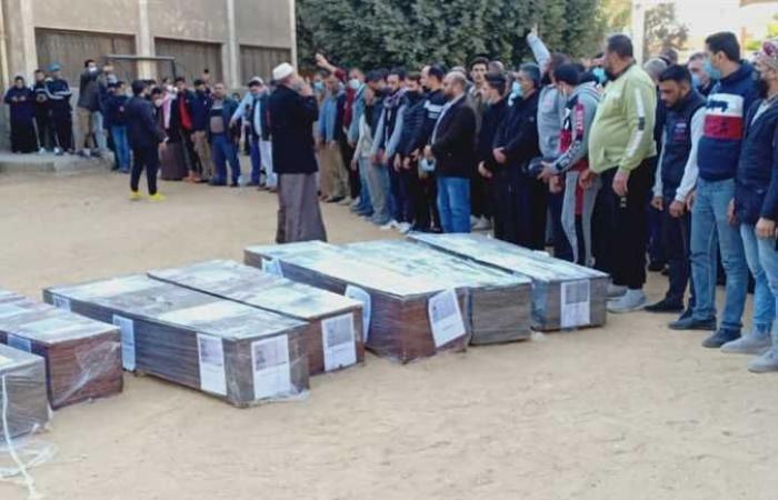 #المصري اليوم -#حوادث - صلاة الجنازة على جثامين 7 سوريين في بني سويف ونقلهم إلى بلادهم (صور) موجز نيوز