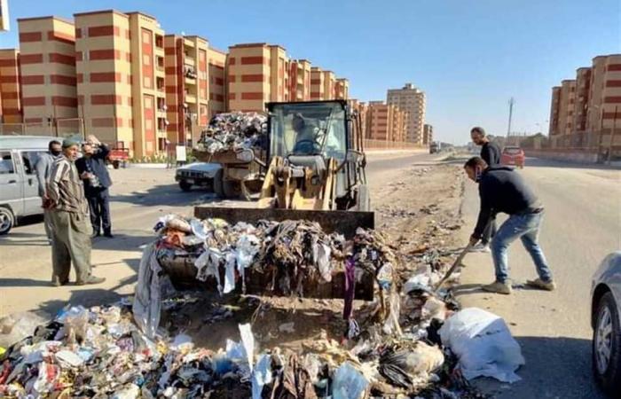 المصري اليوم - اخبار مصر- إزالة 160 طن قمامة ومخلفات من قرية «نفيشة» بالإسماعيلية موجز نيوز