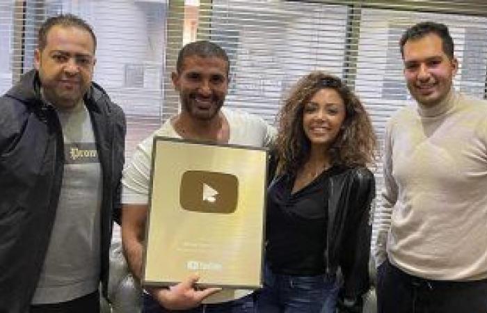 #اليوم السابع - #فن - أحمد سعد يحصد الدرع الذهبى من موقع اليوتيوب
