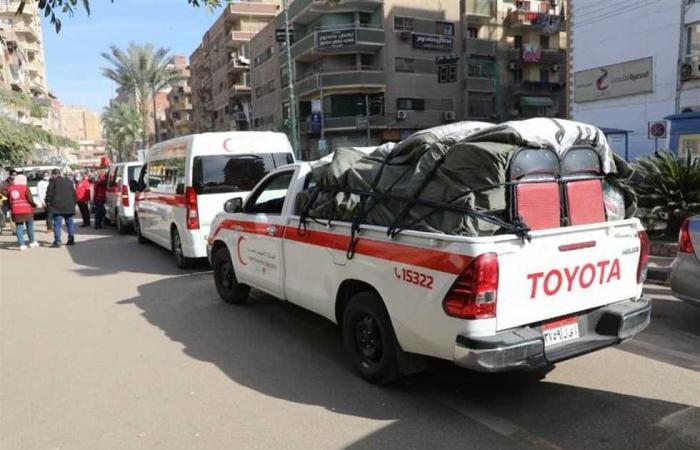 المصري اليوم - اخبار مصر- محافظ المنوفية يشهد تدشين قافلة الهلال الأحمر الثانية موجز نيوز