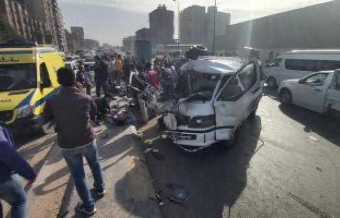 #اليوم السابع - #حوادث - النيابة تصرح بدفن ضحية حادث طريق المنصورية وتستعلم عن حالة 9 مصابات