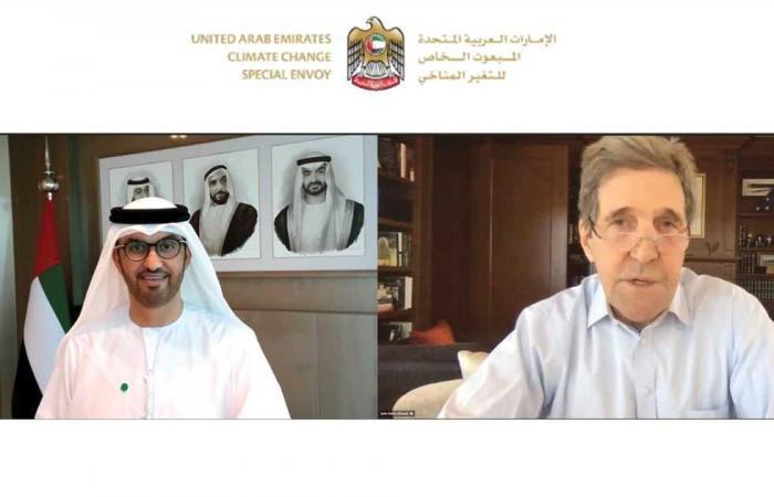 #المصري اليوم -#اخبار العالم - وزير الصناعة الإماراتي وكيري يبحثان تعزيز الجهود العالمية للحد من تداعيات التغير المناخي موجز نيوز