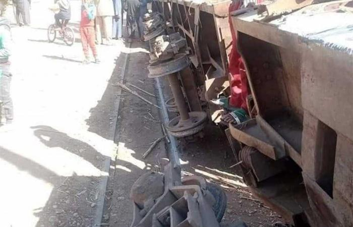 #المصري اليوم -#حوادث - انقلاب قطار محمل بالقصب قبل وصوله إلى مصنع سكر قوص في الأقصر موجز نيوز