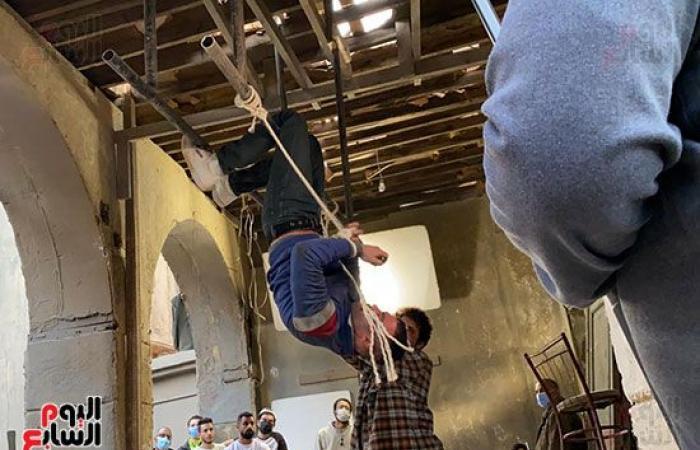 """#اليوم السابع - #فن - ننشر صورا حصرية لهروب محمد إمام فى كواليس مسلسله """"النمر"""" لرمضان المقبل"""