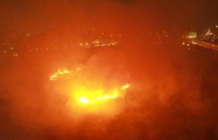 #اليوم السابع - #حوادث - السيطرة على حريق اندلع فى مخلفات بمنطقة مطار إمبابة