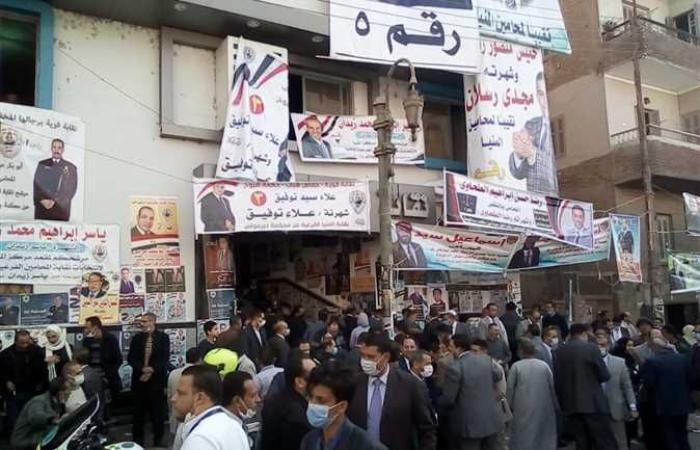 المصري اليوم - اخبار مصر- توافد المحامين علي لجان الاقتراع في انتخابات «فرعية المنيا» (صور) موجز نيوز