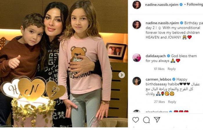 """#اليوم السابع - #فن - نادين نجيم تحتفل بعيد ميلادها للمرة الثانية مع أبنائها: """"حبي غير المشروط"""".. صور"""