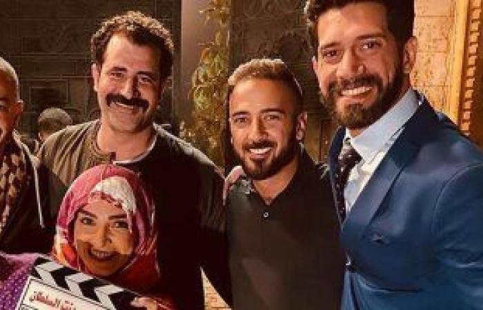"""#اليوم السابع - #فن - روجينا بالحجاب مع أحمد مجدى فى كواليس تصوير مسلسل """"بنت السلطان"""".. صور"""