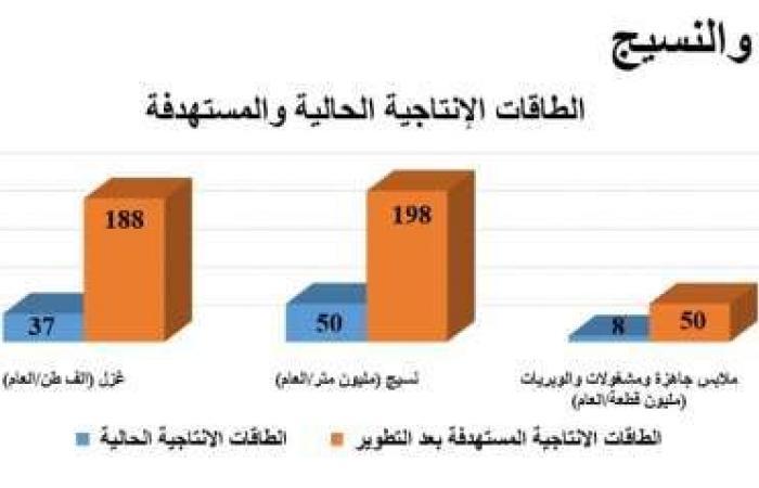 اخبار السياسه خطة تطوير شركات القطن والغزل: استثمار بـ21 مليارا ومضاعفة الإنتاج 4 مرات