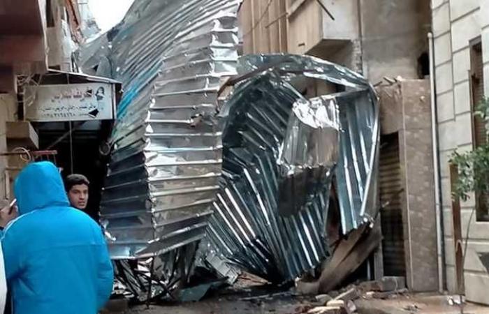 المصري اليوم - اخبار مصر- سقوط إشارة تقاطع قناة السويس و«صاج عمارة» في الإسكندرية لشدة «الرياح» (صور) موجز نيوز