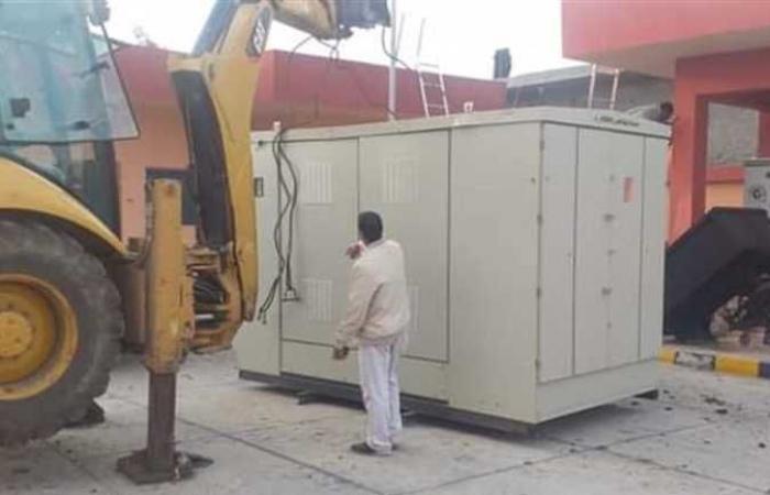 المصري اليوم - اخبار مصر- وصول 2 محول كهرباء لمحطة صرف صحي البياض موجز نيوز