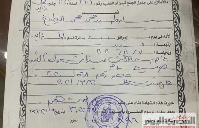 #المصري اليوم -#حوادث - النيابة تأمر بضبط وإحضار سارة الطباخ لتنفيذ 3 أحكام بحبسها 7 سنوات (تفاصيل وصور) موجز نيوز