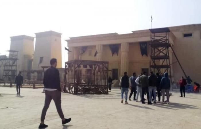 #اليوم السابع - #فن - شاهد قصر الملك أحمس من كواليس مسلسل عمرو يوسف