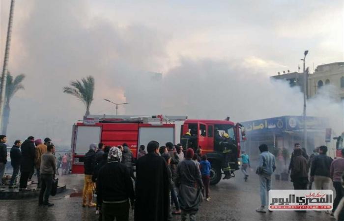 #المصري اليوم -#حوادث - إخماد حريق في «هيش» بجوار ورش السكك الحديدية بالمنيا موجز نيوز