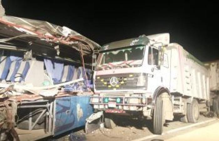 #اليوم السابع - #حوادث - مصرع 9 وإصابة 6 فى حادث تصادم على طريق الوردة البيضاء فى السويس