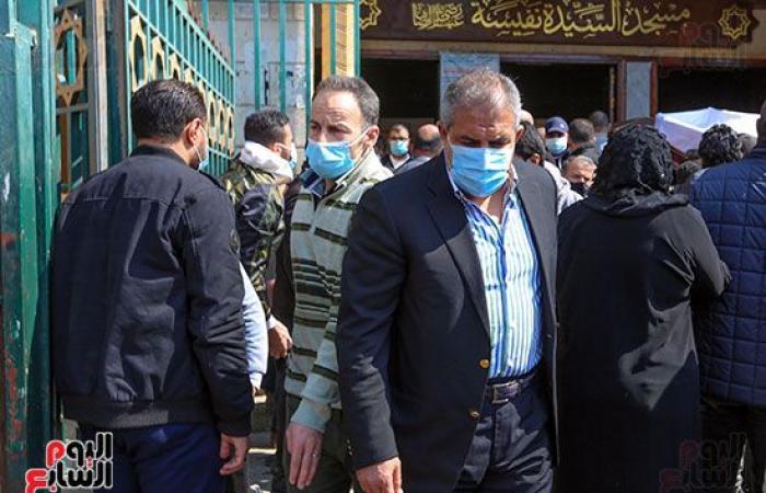 #اليوم السابع - #فن - طاهر أبو زيد ومحافظ القاهرة أبرز الحضور في تشييع جثمان رئيس صوت القاهرة الأسبق