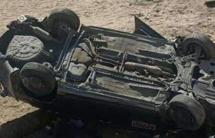 #اليوم السابع - #حوادث - مصرع عامل وإصابة 2 آخرين فى حادث انقلاب سيارة ملاكى بالسويس