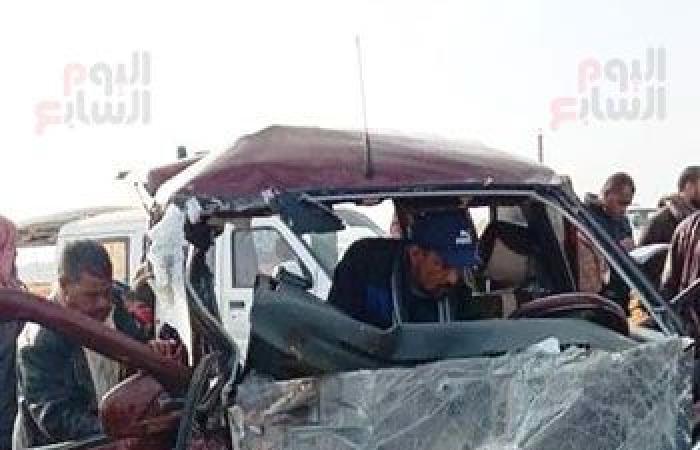 #اليوم السابع - #حوادث - إصابة 10 مواطنين فى تصادم سيارتين بطريق السويس.. صور