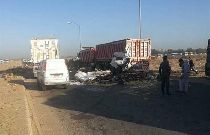#المصري اليوم -#حوادث - إصابة سائق في حادث تصادم سيارتين بالشرقية (صور) موجز نيوز