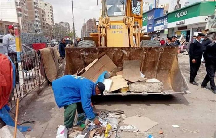 المصري اليوم - اخبار مصر- حملة إزالة تعديات في حي الأربعين بالسويس موجز نيوز