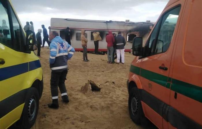 #المصري اليوم -#حوادث - مصرع شخص صدمه قطار بمزلقان المنصورة في المنيا موجز نيوز