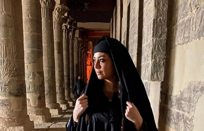 """#اليوم السابع - #فن - هبة مجدى فى صورة من كواليس """"موسى"""": أصعب شخصية ذاكرتها"""