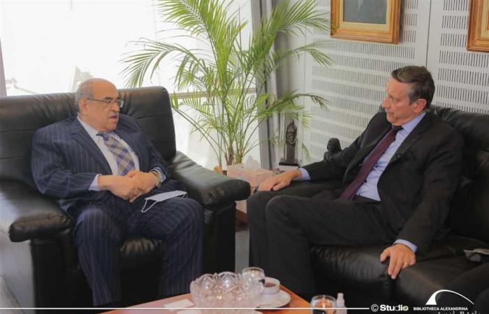 المصري اليوم - اخبار مصر- مدير مكتبة الإسكندرية يستقبل السفير الألماني موجز نيوز
